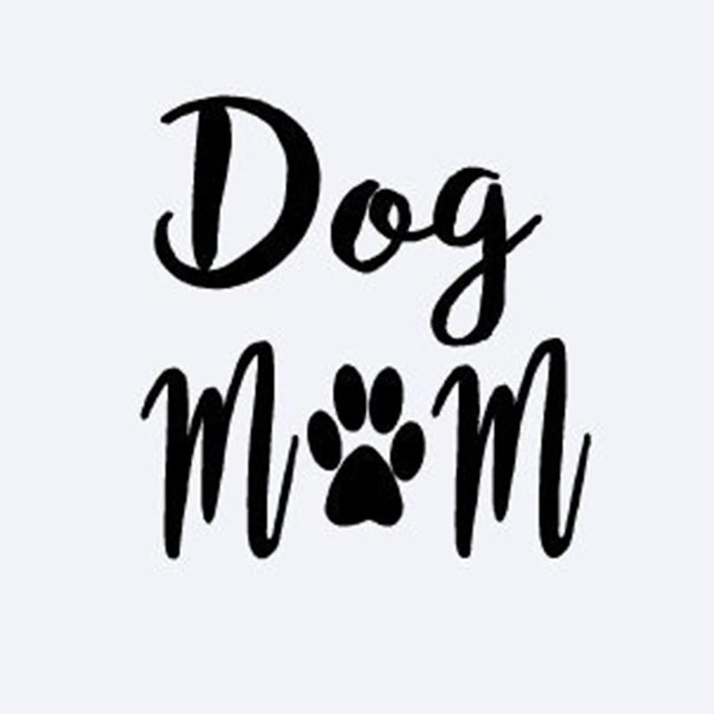 Dog Mom Decal Vinyl Sticker Cars Trucks Vans Walls Laptop