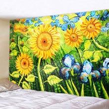 Beautiful Sunflower flower Printed Large Wall Tapestry Cheap Hippie Wall Hanging Bohemian Wall Tapestries Mandala Wall Art Decor