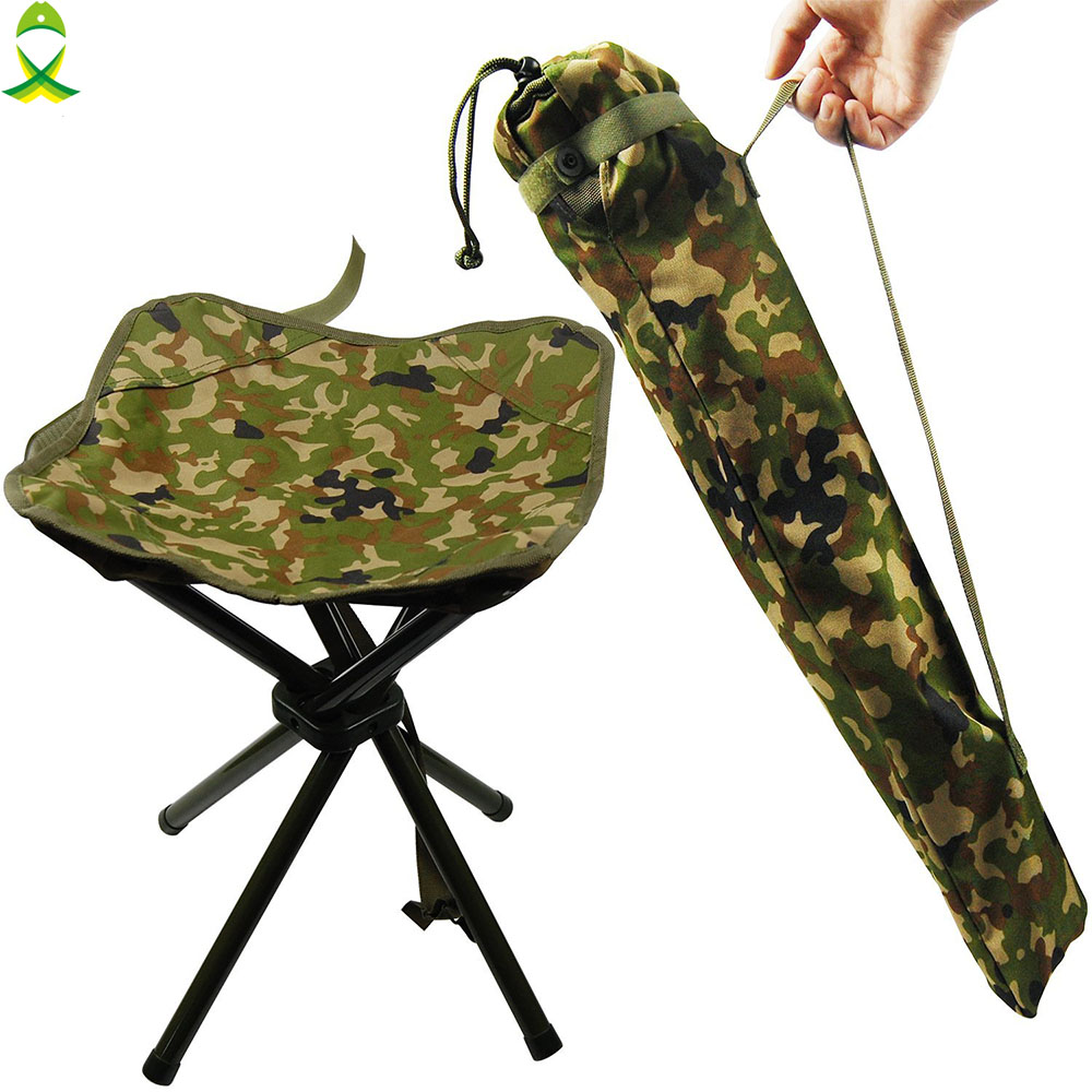 JSM Outdoor Portable Folding Camouflage Fishing <font><b>Chairs</b></font> Picnic Beach Seat Tackle Accessories for camping