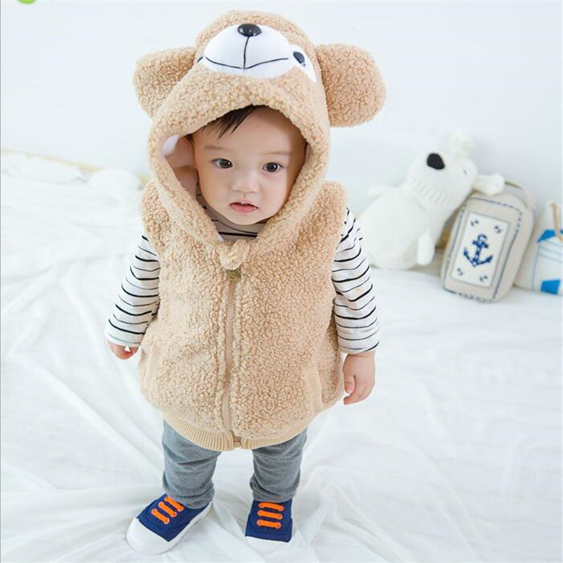 2018 Cute Cartoon Bear Design Kinder Westen Herbst Winter - Kinderkleidung - Foto 2