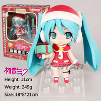 Free Shipping Nendoroid 4 VOCALOID Hatsune Miku Red Christmas Lingerie PVC Action Figure Model Collection Toy