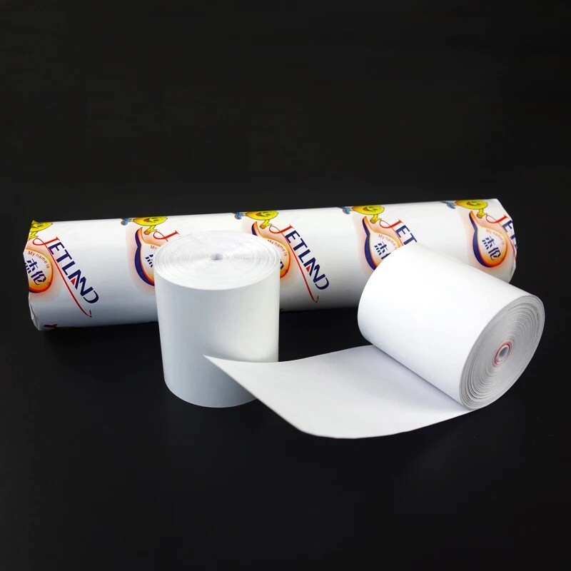 4Rolls/Pack  Jetland Thermal Paper 57mm  X 50mm No Core BPA Free Credit Card Receipt Paper, Super Long Meters