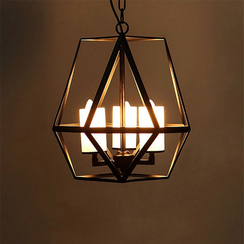Retro loft Candlestick Candle Pendant light,Vintage Hanging Lamp Cafe Restaurant Bedroom Black Cage Industrial Pendant Lamps new arrival pendant lamp cage retro bar cafe restaurant vintage iron industrial loft bedroom iron pendant light