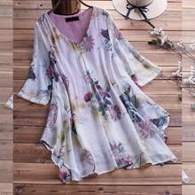 Large Size Womens Shirt Cotton And Linen Plus Size 5XL 6XL 7XL 8XL 9XL Summer Autumn V neck Short sleeved Loose White Top