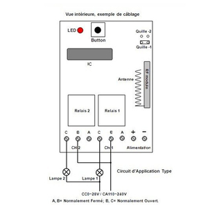 Image 3 - 3000เมตรDC12V 10A 2CH 315/433เมกะเฮิร์ตซ์RFการควบคุมระยะไกลไร้สายสวิทช์ไฟฟ้าวิทยุควบคุมรับส่งสัญญาณด้วยเสาอากาศ