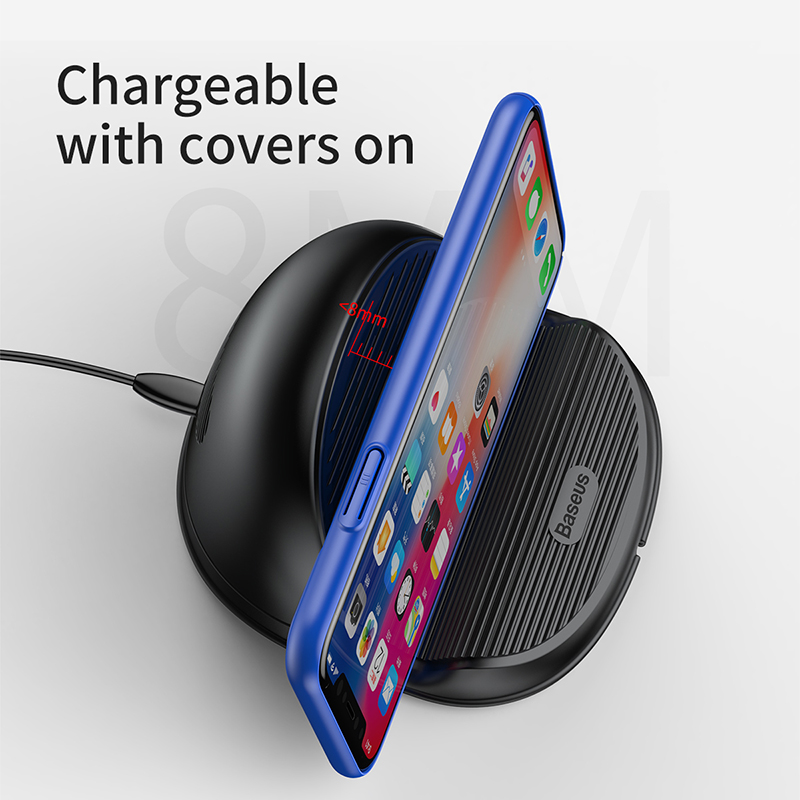 Wireless Charger 10W - QC 3.0 Fast Charging Desktop Stand with Heat Dispension Fan 6