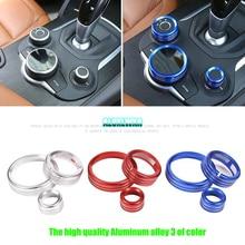 car-styling For Alfa Romeo Giulia Stelvio 2017 Aluminum Alloy Interior Center Control Multimedia Knob Ring Trim car Accessories