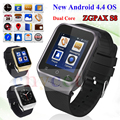 ZGPAX S8 Смартфон Bluetooth Smart Watch Android 4.4 MTK6572 Dual Core GPS 2.0MP Камера WCDMA WiFi MP3 MP4 Smartwatch PK Q18 U8