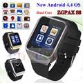 ZGPAX S8 Smartphone Bluetooth Smart Watch Android 4.4 MTK6572 Dual Core GPS 2.0MP Camera WCDMA WiFi MP3 MP4 Smartwatch PK Q18 U8