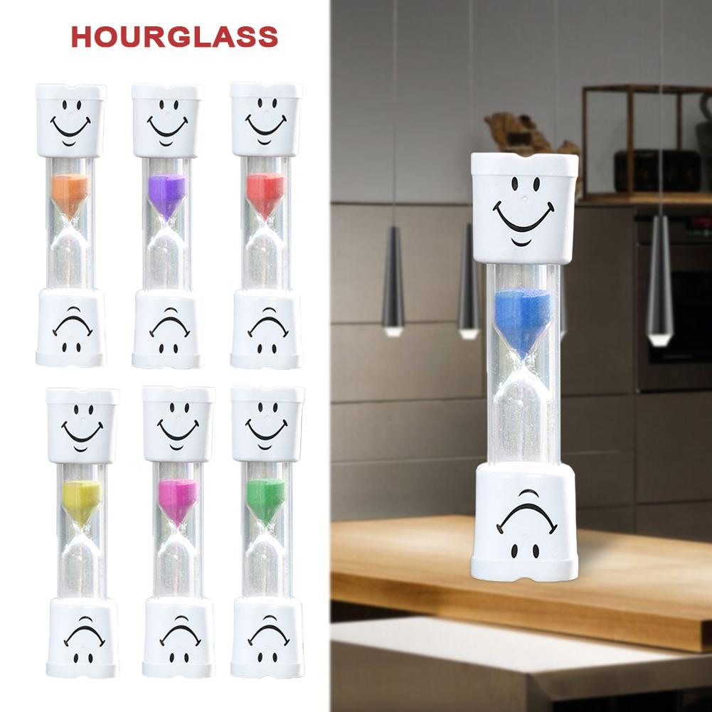 US $1 14 29% OFF|1 pc Top List Smiling Face The Hourglass Decorative  Household Items 2 Minute Kids Toothbrush Timer Sand Clock Arena Gifts EH-in