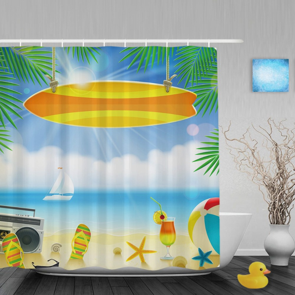 Flip Flop Curtains  Flip Flop Shower Curtain