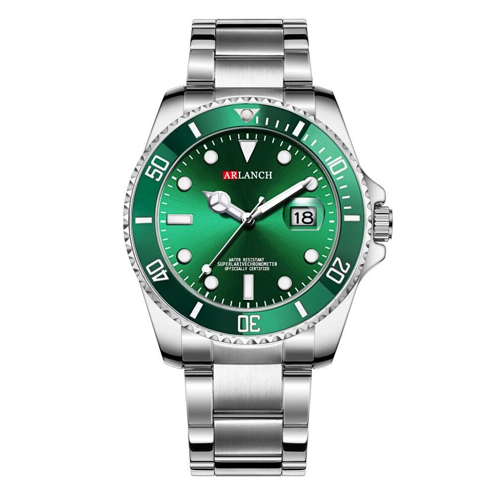 Luxury Mens Watches Top Brand Stainless Steel Quartz Clock Reloj Calendar Waterproof Wrist Watch orologio uomo relogio masculino in Quartz Watches from Watches
