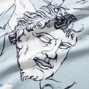 Image 4 - الرجال الهيب هوب قميص فضفاض الشارع الشهير الأحرف طباعة قميص هاواي صيفي المتضخم الصيف الخريف Harajuku بلايز قميص طويل الأكمام رقيقة