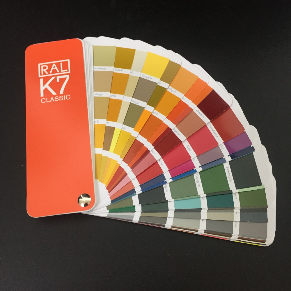 Germany RAL Color Guide RAL K7 CLASSIC ral k7 paint color page chip card brochure