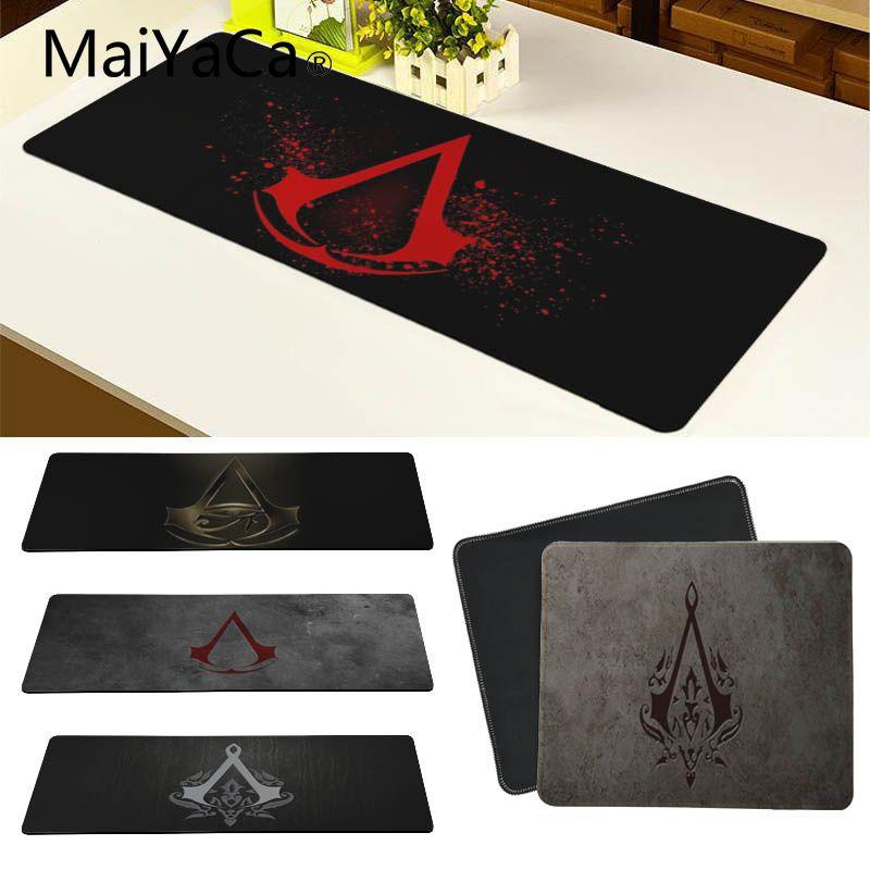 MaiYaCa Cool New Assassin's Creed Logo Laptop Gaming Mice Mousepad Large Gaming Mouse Pad Lockedge Mouse Mat