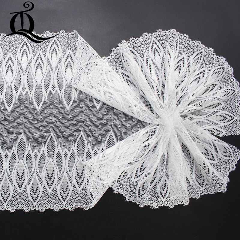 free shipping DIY 1 yard 17cm garment accessories handmade exquisite white  high quality fabric lace elastic lace skirt ymq118