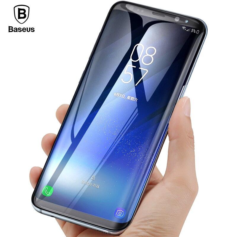 Baseus 3D 0,3mm Protector de pantalla para Samsung S8 Plus vidrio templado 9 H de 3D curvo de vidrio Protector para Samsung s8 película protectora