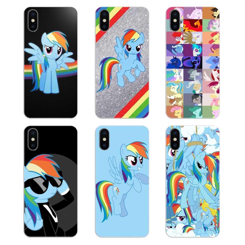 Для iPhone XS Max XR X 4 4S 5 5S 5C SE 6 6 S 7 8 плюс samsung Galaxy J1 J3 J5 J7 A3 A5 крышка красочные my little pony rainbow dash