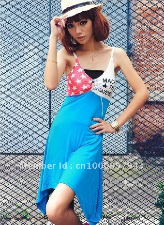 Free Shipping [ Wholesale & Retail ] Fashion Spell color condole carries a dress 8039