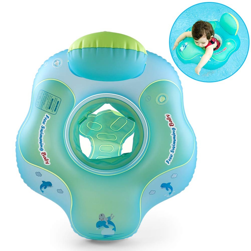 Baby Seat Floating Inflatable Infant Swim Armpit Ring Kids Swimming Pool Accessories Help Baby Learn Kick Children Bathing Raft
