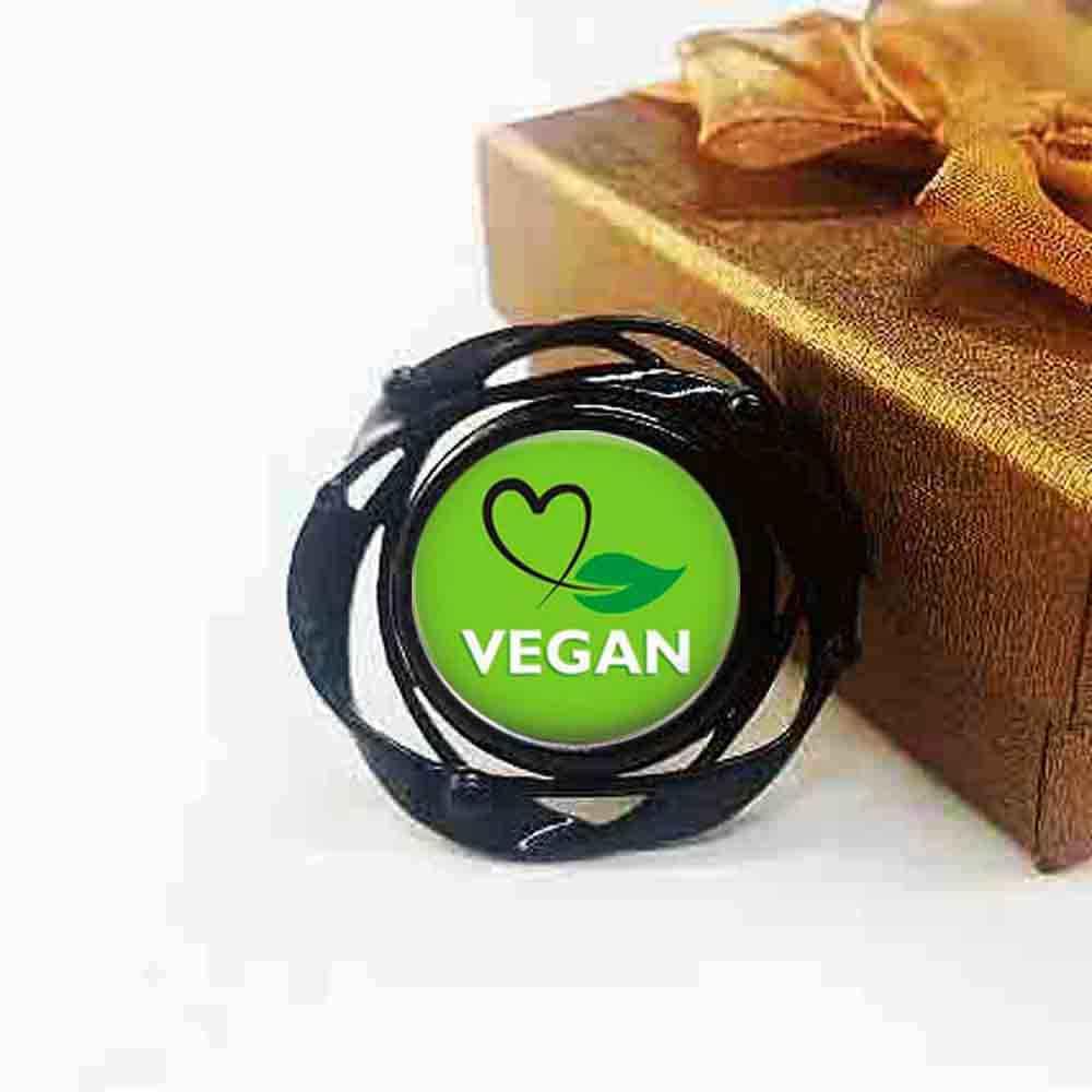 QiYuFang веганская диета вегетарианская диета го органические ювелирные изделия планета черный цветок большое кольцо Многослойные очаровательные женские мужские 1 шт./партия