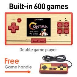 Livraison gratuite jeu vidéo rétro chaud 2.6 pouces écran Console de jeu portable pour enfants intégré gratuit 600 jeux NES cadeau pour enfant