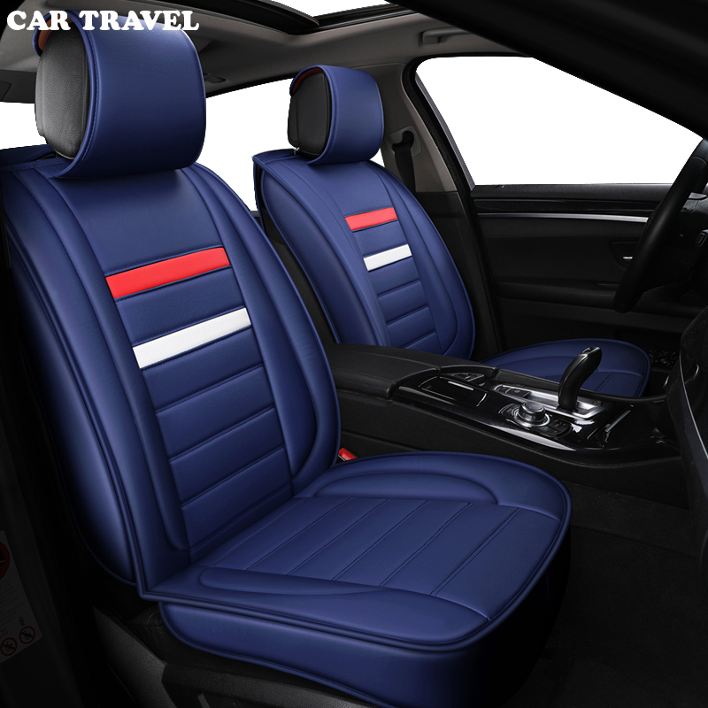 CAR TRAVEL leather car seat cover For peugeot 206 407 508 308 301 3008 2017 205