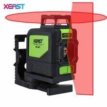 2017 Sıcak XEAST XE-901 Kırmızı 3D Lazer Seviyesi Ölçer 5 hatları 360 Derece Öz Tesviye Mini Taşınabilir Enstrüman Kırmızı Lazer işın
