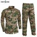 Uniforme militar camisa + calças terno do exército militar algodão grosso camuflagem ternos python campo camuflagem uniformes de combate cs campo