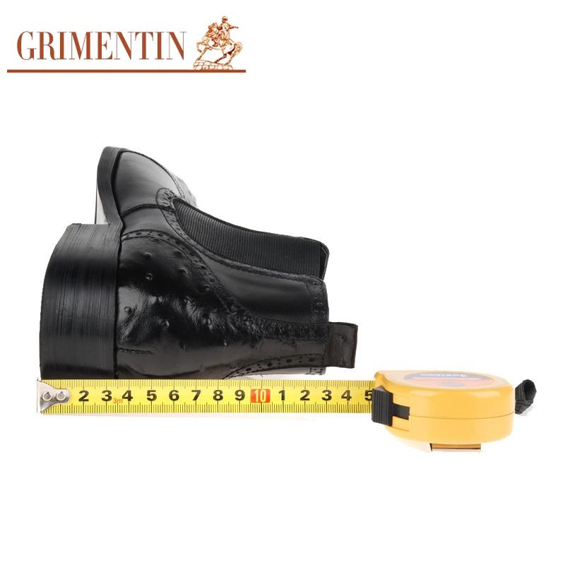 Luxe Brun Véritable brown Date Noir En D'affaires Black Cuir Grimentin 2019 Mâle Bottines Chaussures Pour Bottes De Bureau Hommes lFK1Jc
