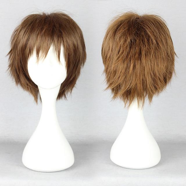 MCOSER Pupa Hasegawa Yume Cool Design Brown Blonde Boy Short Cosplay Wig Free Shipping