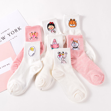 Elegant Lovely Cartoon Sweet Cotton Women Socks Cute Animals Character Ladies and Female Socks Fashion Casual