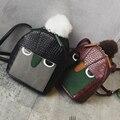 Новая мода Марка оригинальный дизайн мини crossbady мешок Монстр выражение досуг PU сумка зерна колледж сумка заклепки плеча сумку