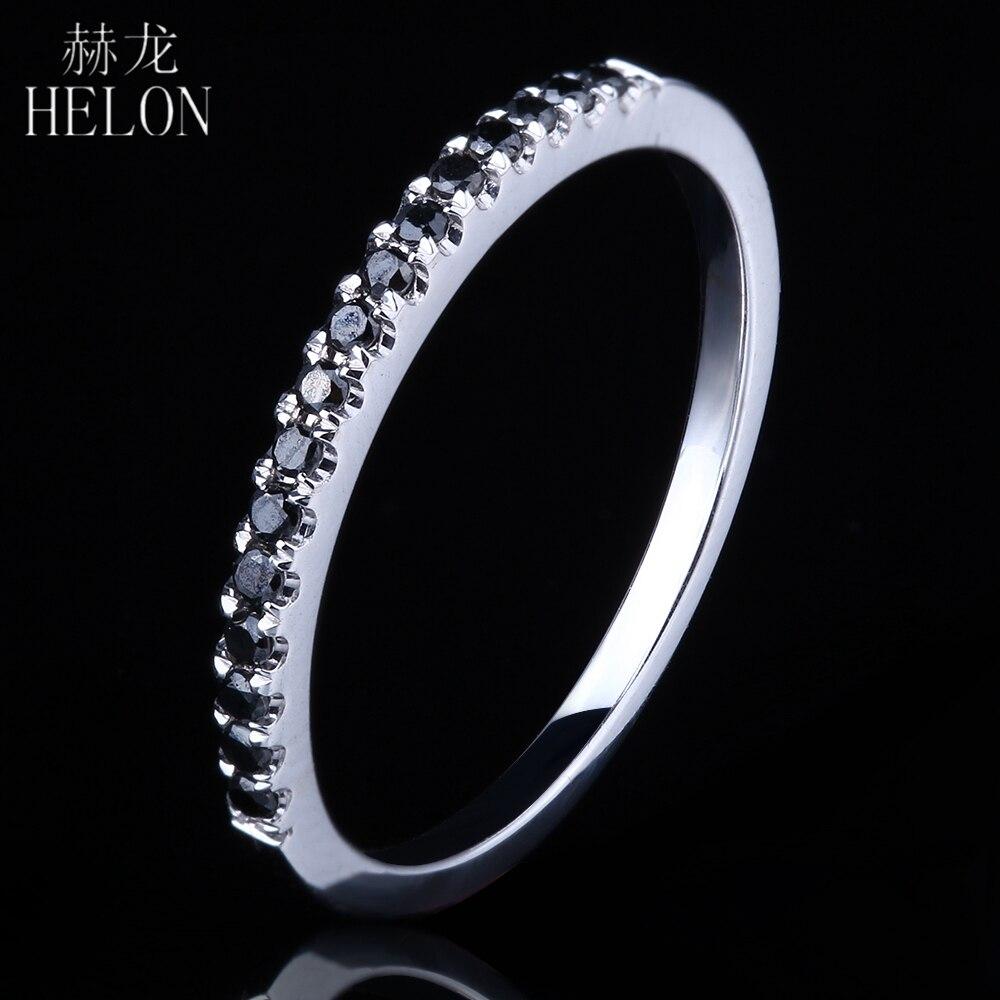HELONแข็ง10พันW Hite G Oldปูเพชรสีดำวงแหวนสไตล์ที่สวยหรูหมั้นแหวนแต่งงานผู้หญิงอินเทรนด์เครื่องประดับFine-ใน ห่วง จาก อัญมณีและเครื่องประดับ บน AliExpress - 11.11_สิบเอ็ด สิบเอ็ดวันคนโสด 1