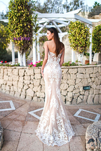 Image 5 - Robe de mariee Long Train Lace Mermaid Wedding Dresses 2020 New Custom Made Appliques fishtail Wedding Gown Vestido de noiva