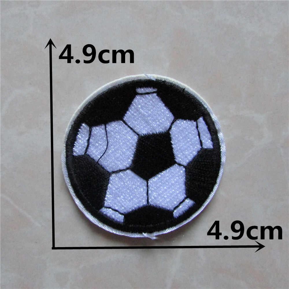 Tanie wysokiej jakości 1 sztuk piłka do piłki nożnej łatki paski odzież akcesoria haft aplikacja dekoracji akcesoria poprawka C212
