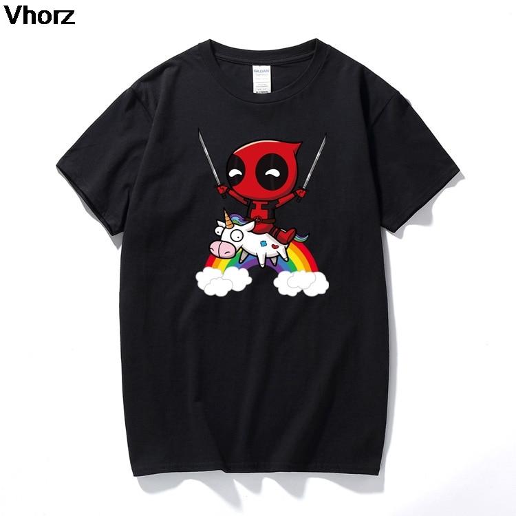 New summer deadpool unicorn cartoon T Shirt Men Funny s