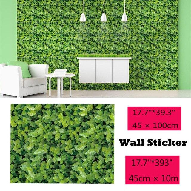 Muursticker 1/10 Meter Groene Weide Effect zelfklevende Muur Sticker Muurstickers Home Decoratie Living Slaapkamer Decor