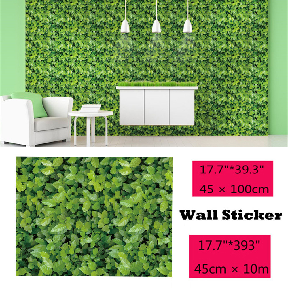 Wall Sticker 1/10 Meters Green Meadow Effect Self adhesive Wall Sticker Wall Stickers Home Decoration Living Bedroom Decor-in Wall Stickers from Home & Garden