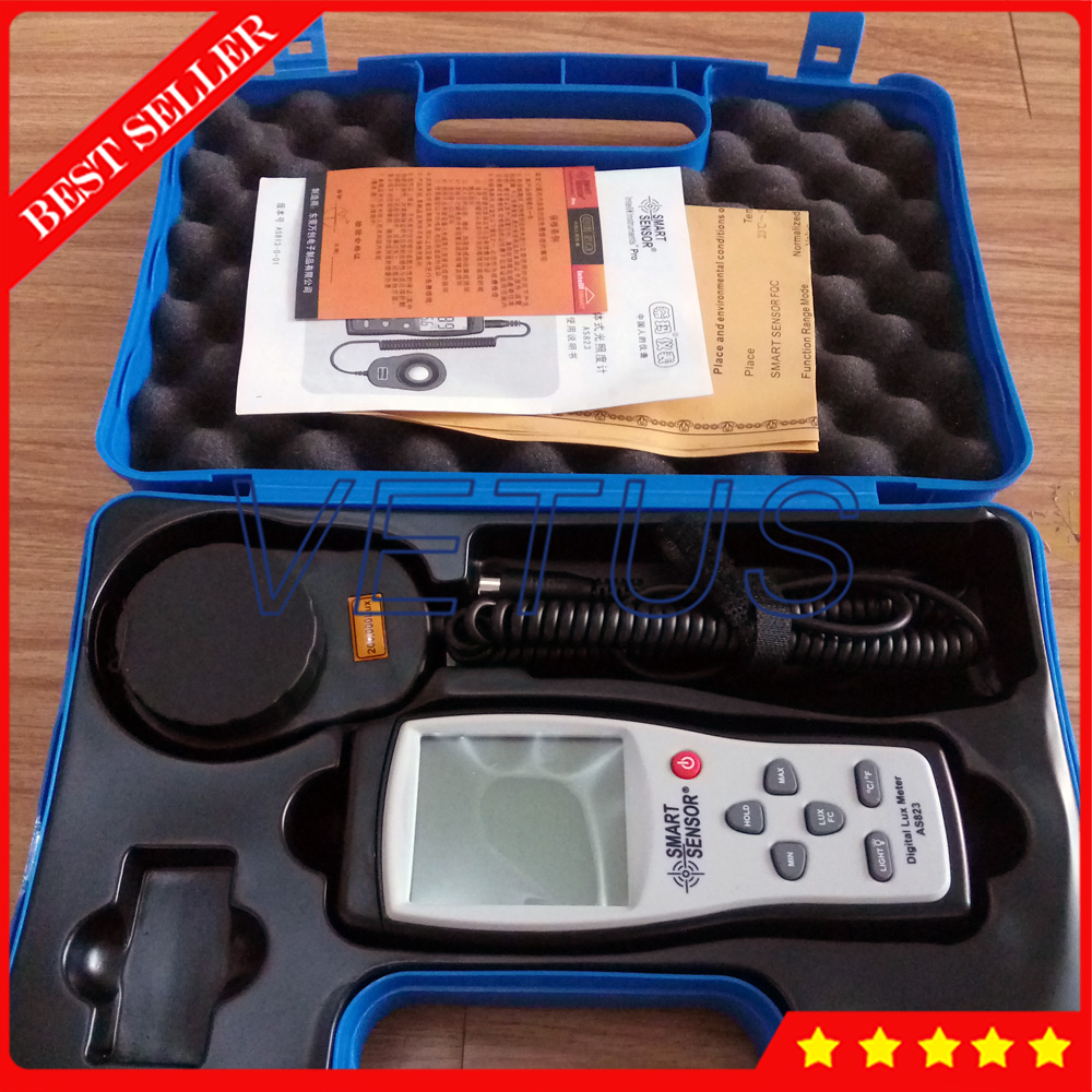 AS823 Spectrometer prices with 1~200.000lux portable lux meter light meters illuminometer ручки parker s1931507