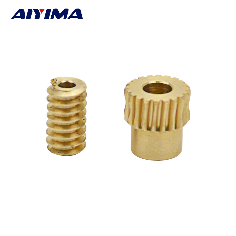 Aiyima 1pair 0.5 Modulus Motor Output Copper Worm Wheel Gear 1:20 For DIYAiyima 1pair 0.5 Modulus Motor Output Copper Worm Wheel Gear 1:20 For DIY
