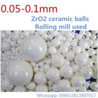 1kg Lot 0 05 0 1mm Ball ZrO2 Ceramic Balls Zirconia Balls For Planetary Mill Agitating