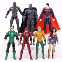DC COMICS Super Heroes Batman Superman Wonder Woman Aquaman Green Lantern Cyborg The Flash PVC Action