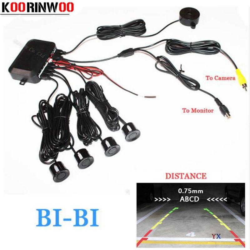KOORINWOO Dual Core CPU Video System Car Parking Sensor Reverse Backup Radar 4 Alarm Beep Show