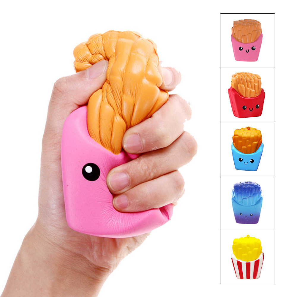 Squishy Frieten Fun Antistress Squishe Stress Relief Speelgoed Novelty Gag Speelgoed Fun Anti-stress Populaire Funny Gags Praktische joke