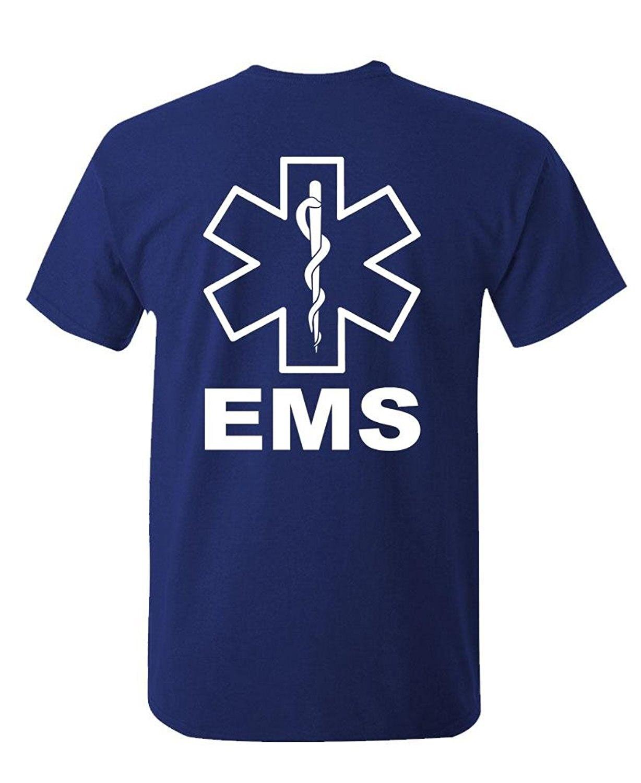 OKOUFEN Create T Shirt Design O-Neck Short-Sleeve Ems Hi Vis Reflective Emergency Duty T Shirts For Men