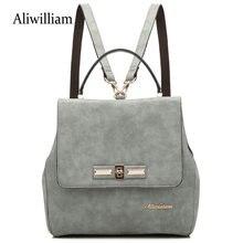 Aliwilliam 2017 Мода Рюкзак для женщин Тенденция простой моды плеча школа сумка повседневная все матч для feminina