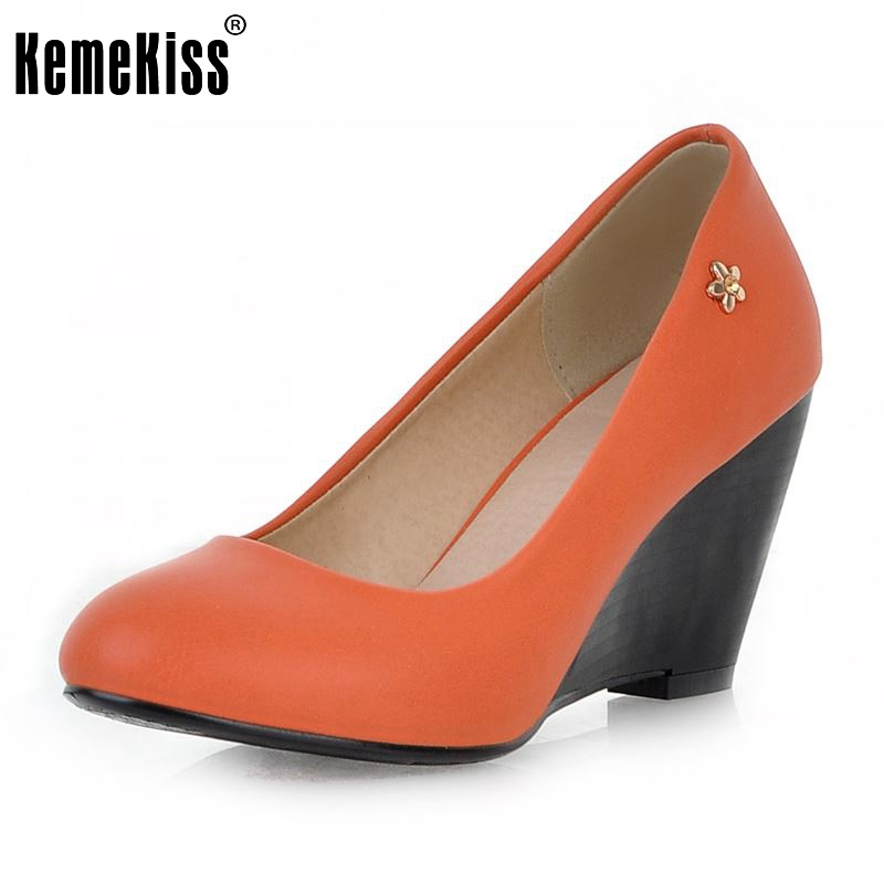 Size 34-43 Women Sexy High Heels Shoes Wedges Pointed Toe Pumps Ladies Wedding Party Shoes Women Heeled Mujer Footwear 2015 new design womens wedges heels pumps fashion pointed toe wood heel single shoes large size thick heels ladies shoes 34 43