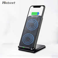 10W Fast Qi Wireless Charger Phone Stand Wireless Charging Induction Charger For iPhone XR XS Max X 8 Plus Samsung Galaxy S9 S8