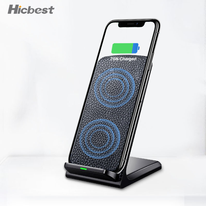 10W Fast Qi Wireless Charger Phone Stand Wireless Charging Induction Charger For iPhone XR XS Max X 8 Plus Samsung Galaxy S9 S810W Fast Qi Wireless Charger Phone Stand Wireless Charging Induction Charger For iPhone XR XS Max X 8 Plus Samsung Galaxy S9 S8